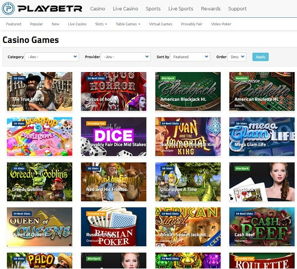 PlayBetR Casino Review