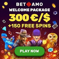 Betamo Casino 150 free spins and $/€300 welcome bonus