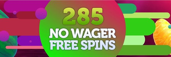 280 no wager free spins up for grabs!