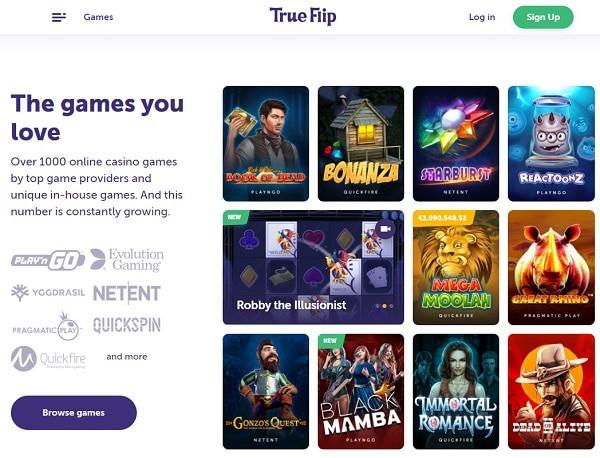 True Flip Online Casino Review