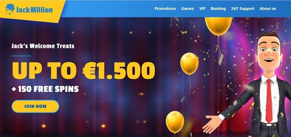 150 free spins and $1500 welcome bonus