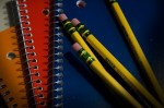 pencils and notebooks, Wikimedia commons