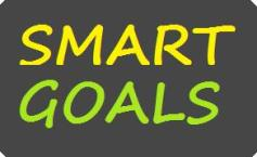Smart Goals Blackboard Sign