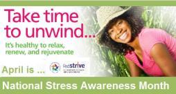 National Stress Awareness Month logo