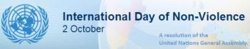 UN Intl Day of Non-Violence banner