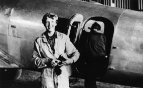 Amelia_Earhart, aviator, wikimedia commons common license