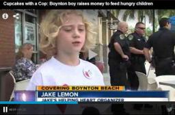 Cops and Cupcakes, J Lemon on teh news