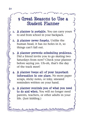 9 Great Reasons to Use a Student Planner