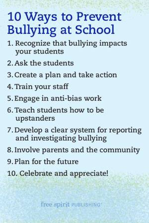 10 Ways to Prevent Bullying at School