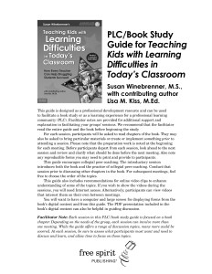 PLC Book Study Guide Teaching Kids w LD