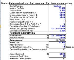 comparison calculator lease