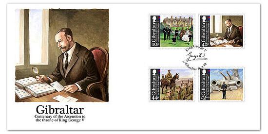 King George V Stamps Gibraltar
