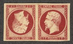 1 Franc carmine tête-bêche pair