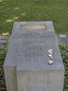 van der Lubbe's grave