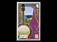 Jersey Europa Stamp 2014 Musical instruments - Banjo