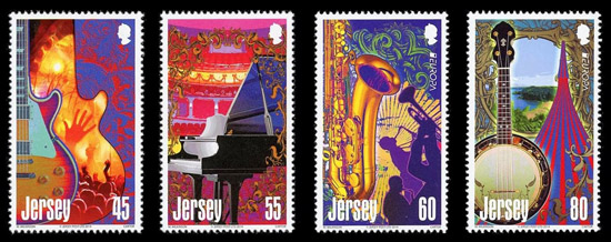 Jersey Europa Stamp 2014 Musical instruments