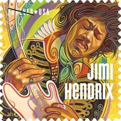 jimi Hendrix stamp USA