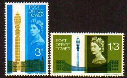 post office tower stampset