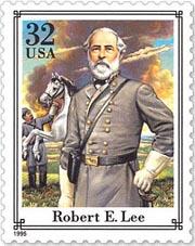 Stamp depicting Robert E Lee
