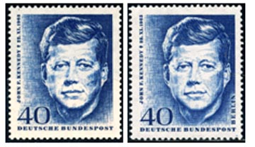 J.F.K. Stamp issued by Germany