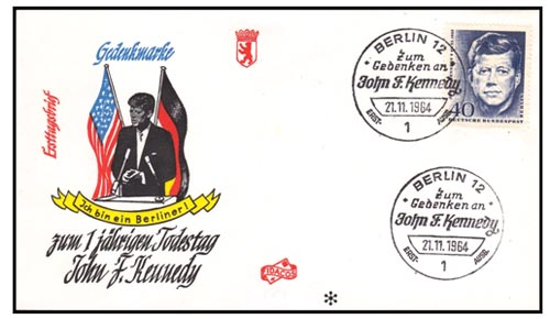 First Day enveloppe J.F.K Federal Republick Germany
