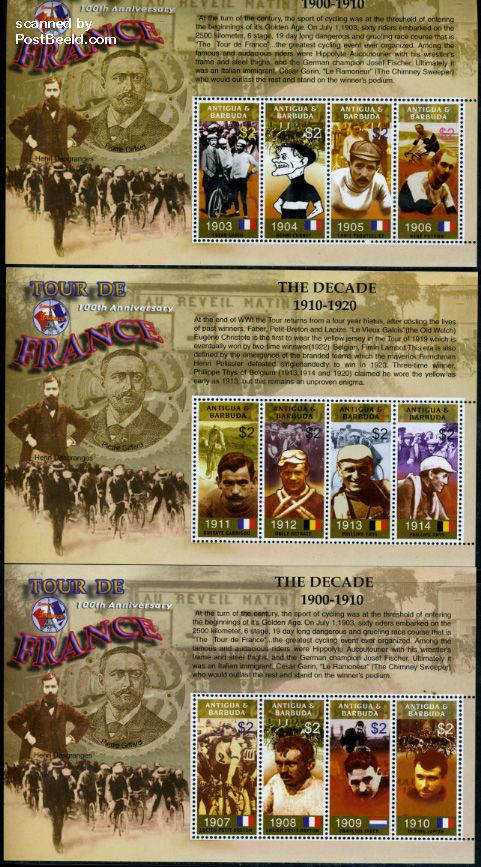 Tour The France stamps