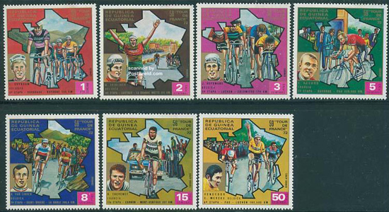 Tour The France stamps Greece