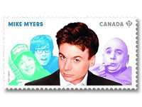 Mike Myers on stamp Canada