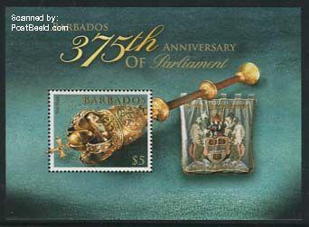 stamp block  Barbados