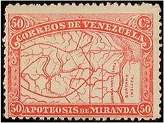 General Miranda stamp
