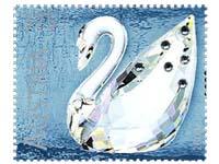 svarovskii swan stamp