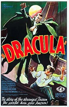 Bela Lugosi Movie Dracula movie poster