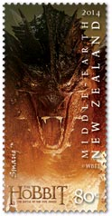 Smaug stamp New Zealand