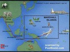 stamp Amelia Earhart flight
