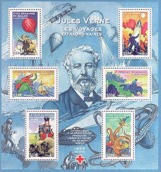 stamps Jules verne Franxce 2005