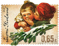 Ari Lakaniemi and Susanna Rumpus award winning Christmas Hug stamp