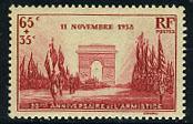 France stamp commemorating the end of World War I