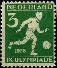 Olympic football stamp Netherlands