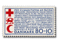 Danish Red Cross stamp