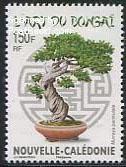Bonsai tree on stamp New Caledonia