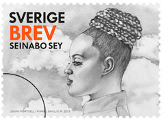 Seinabo Sey postage stamp Sweden