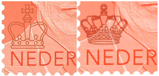 stamps with different crowns