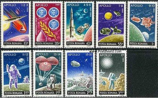 Apollo and Mercury stamps