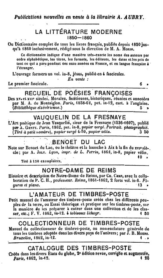 advertisement for the 2nd edition of the publication of Potique
