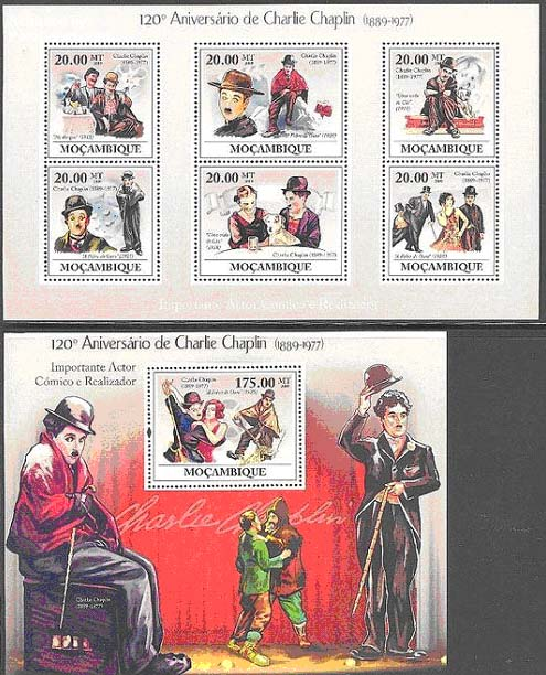 charlie chaplin on stamps