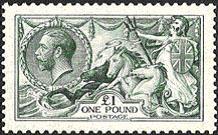 1913 George V Britannia-Seahorse stamp