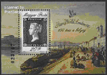 Penny Black stamp block