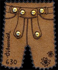 Swarovski Lederhosen stamps