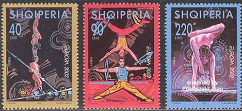 acrobats-on-stamps
