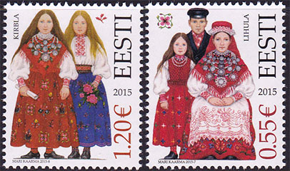 costumes stamps